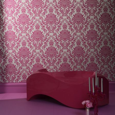 Graham & Brown Pink Elizabeth Grand Damask Wallpaper