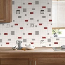Graham & Brown Cappuccino rouge & noir wallpaper