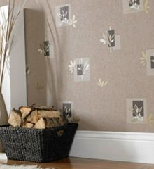Graham & Brown Brown Seasons Floral Motif Wallpaper