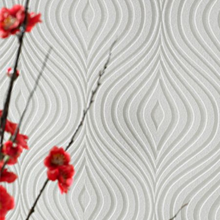 Graham & Brown White curvy wallpaper