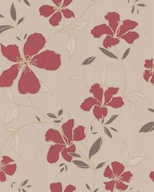 Graham & Brown Red/beige rapture wallpaper