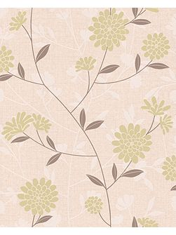Pale green shoot botanic wallpaper