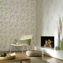 Graham & Brown Pale green shoot botanic wallpaper