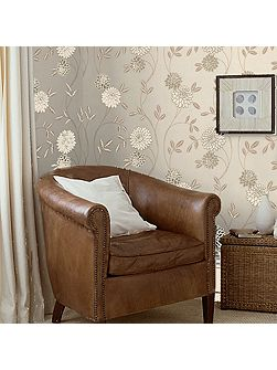 Cream & Gold Shaan Floral Wallpaper