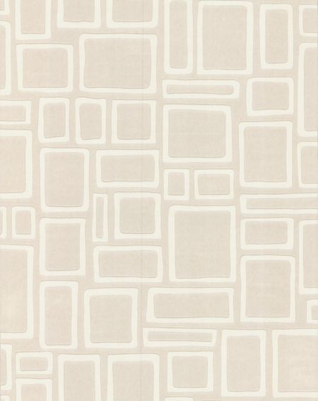 Graham & Brown White large wall feature squares wallpaper