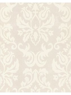 White large wall damask feature wallpaper