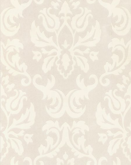 Graham & Brown White large wall damask feature wallpaper