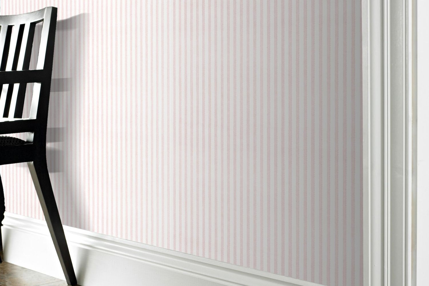 White ribbed wallpaper