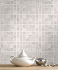 Graham & Brown Mid grey earthen wallpaper