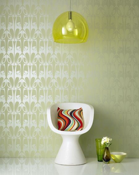 Graham & Brown Soft green hula wallpaper