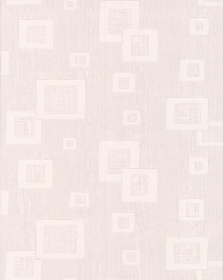 Graham & Brown White floating squares wallpaper