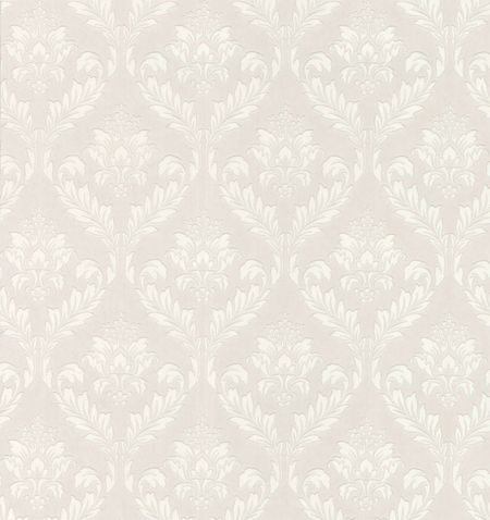 Graham & Brown White medium damask wallpaper