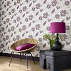 Graham & Brown Plum juliet wallpaper