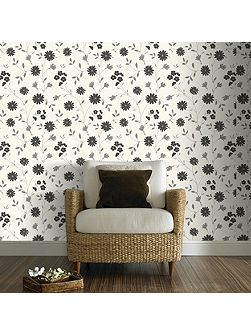 Black & White Belle Floral Wallpaper