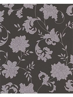 Silver charcoal effect wallpaper