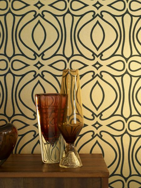 Graham & Brown Dark green braque lagoon wallpaper