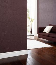 Graham & Brown Plum ulterior wallpaper