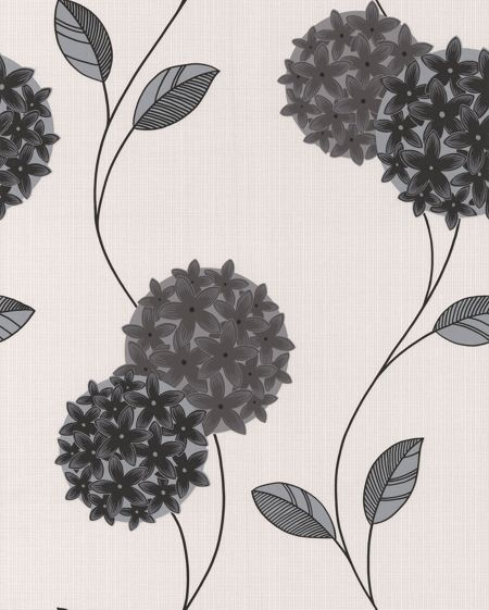 Graham & Brown Black/white pippa wallpaper