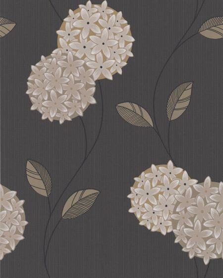 Graham & Brown Charcoal pippa wallpaper
