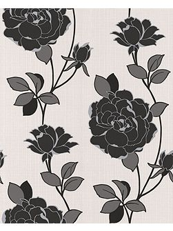 Black/white rosey wallpaper