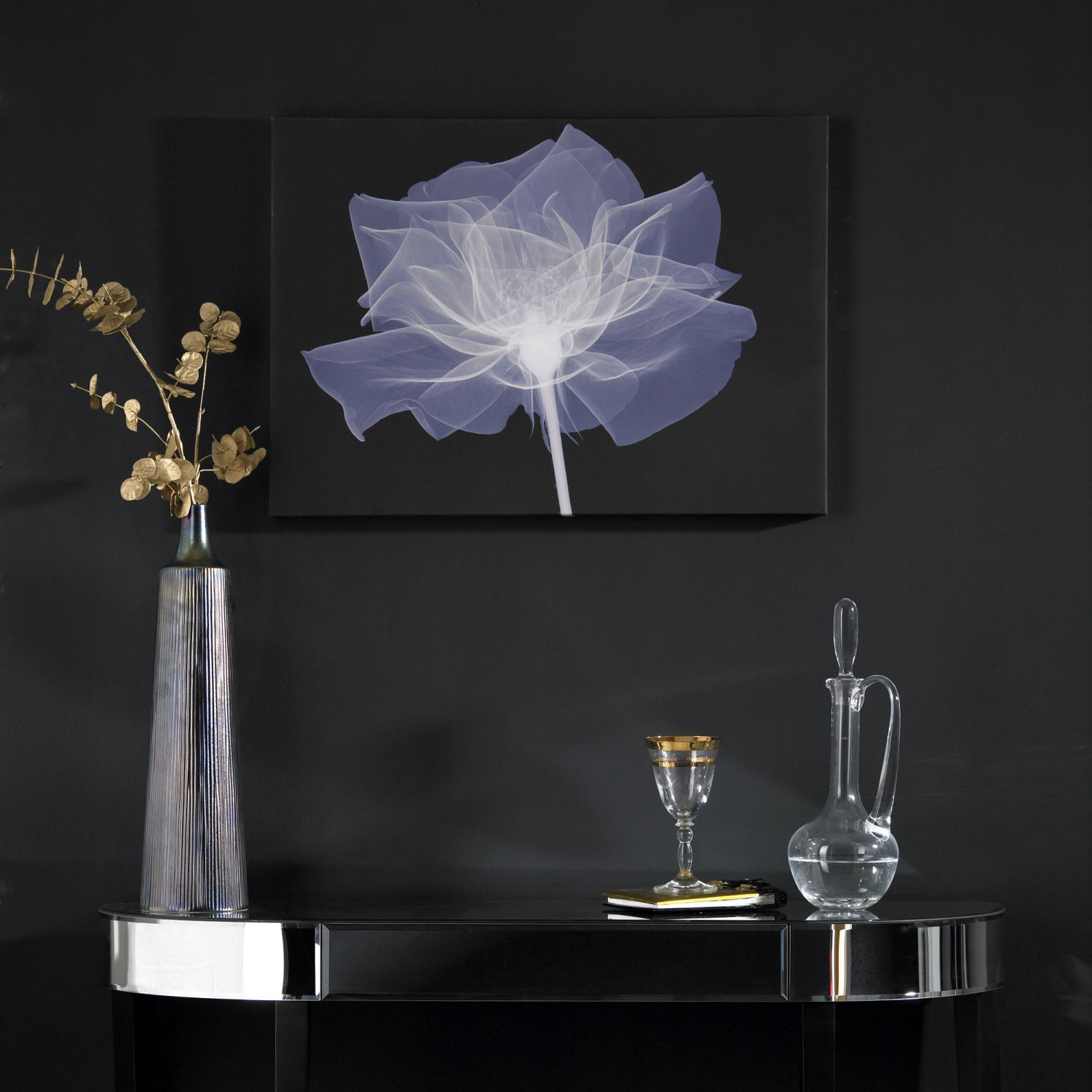X ray rose wall art