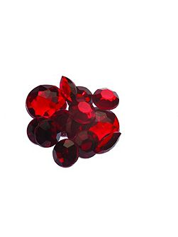 Ruby mixed stone wall art