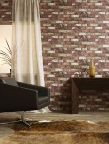 Graham & Brown Red brick hemingway wallpaper