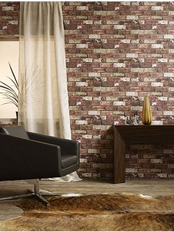 Red brick hemingway wallpaper