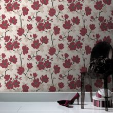 Graham & Brown Red carmine elinor wallpaper
