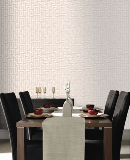 Graham & Brown Cream oyster/gold illusion wallpaper