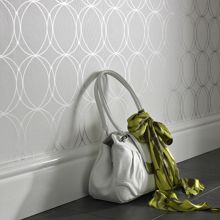 Graham & Brown Pearl/silver darcy wallpaper