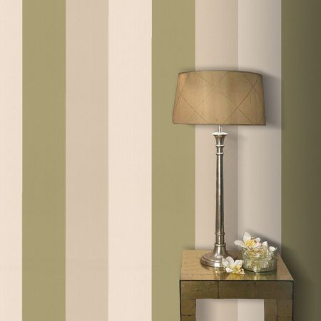 Graham & Brown Olive/gold figaro wallpaper