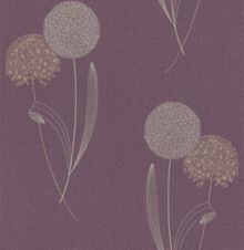 Graham & Brown Purple damson essence alium wallpaper