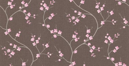Graham & Brown Choc/pink solace essence wallpaper