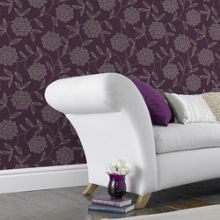 Graham & Brown Purple Vision Floral Wallpaper