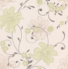 Graham & Brown Green spring taffetia wallpaper