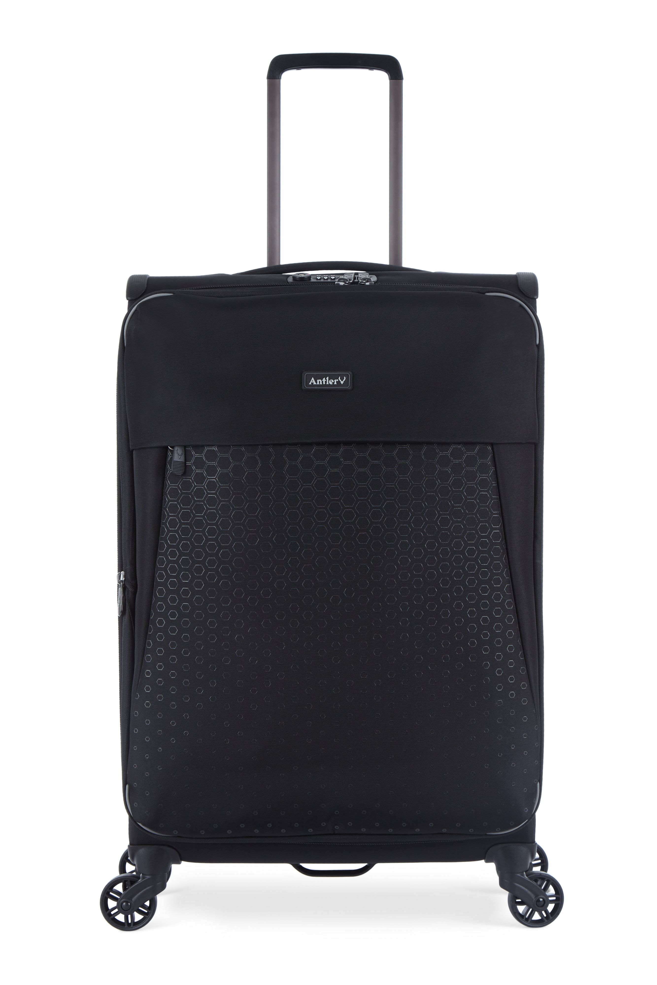 Antler Oxygen black medium 4 wheel soft suitcase Black