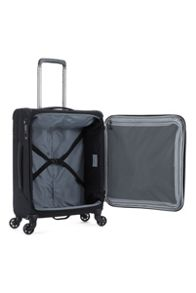 Antler Oxygen black 4 wheel soft cabin suitcase
