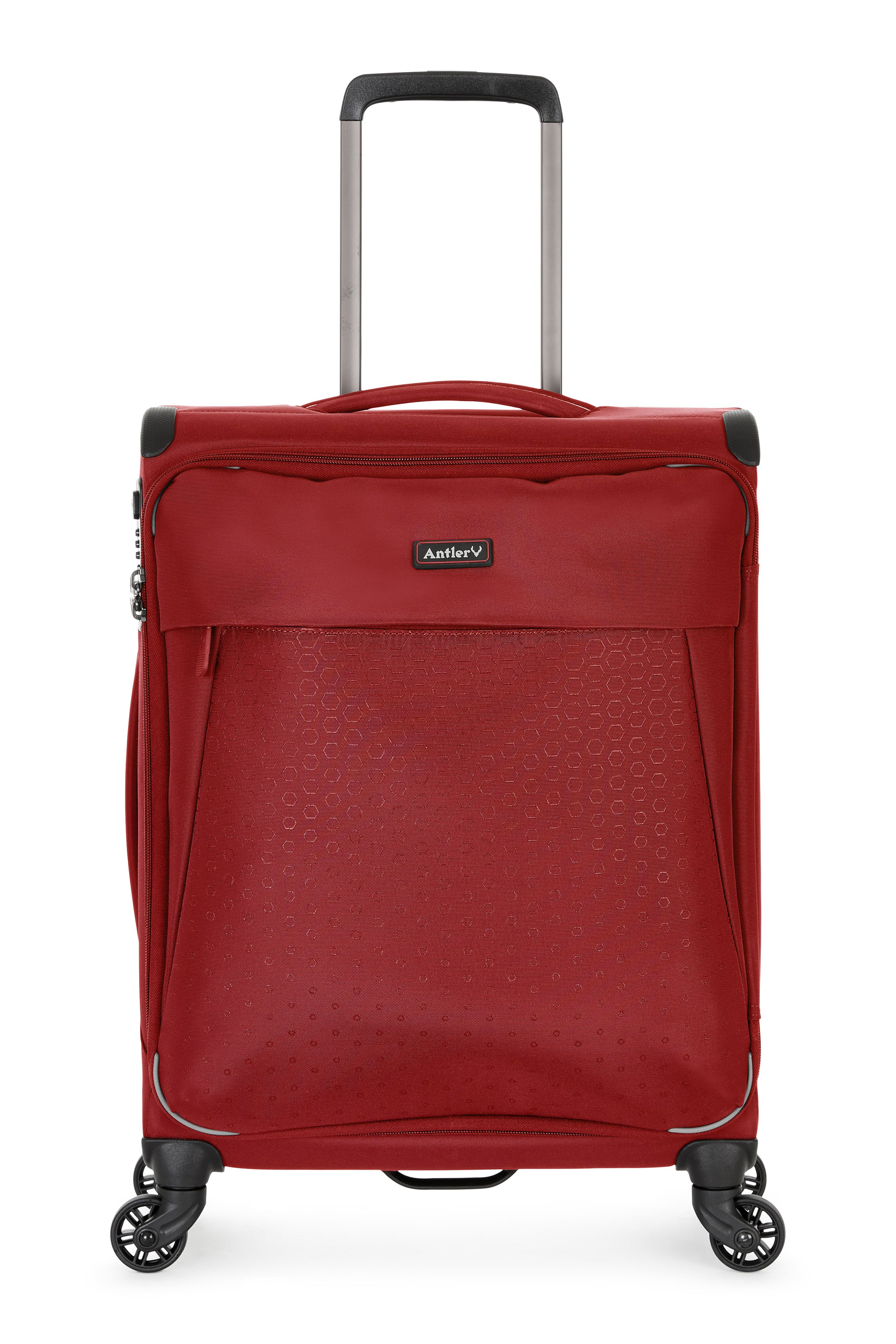 Antler OXYGEN RED 4 WHEEL SOFT CABIN SUITCASE, Red