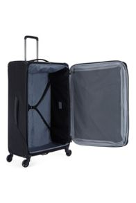 Antler Oxygen black 4 wheel soft large suitcase