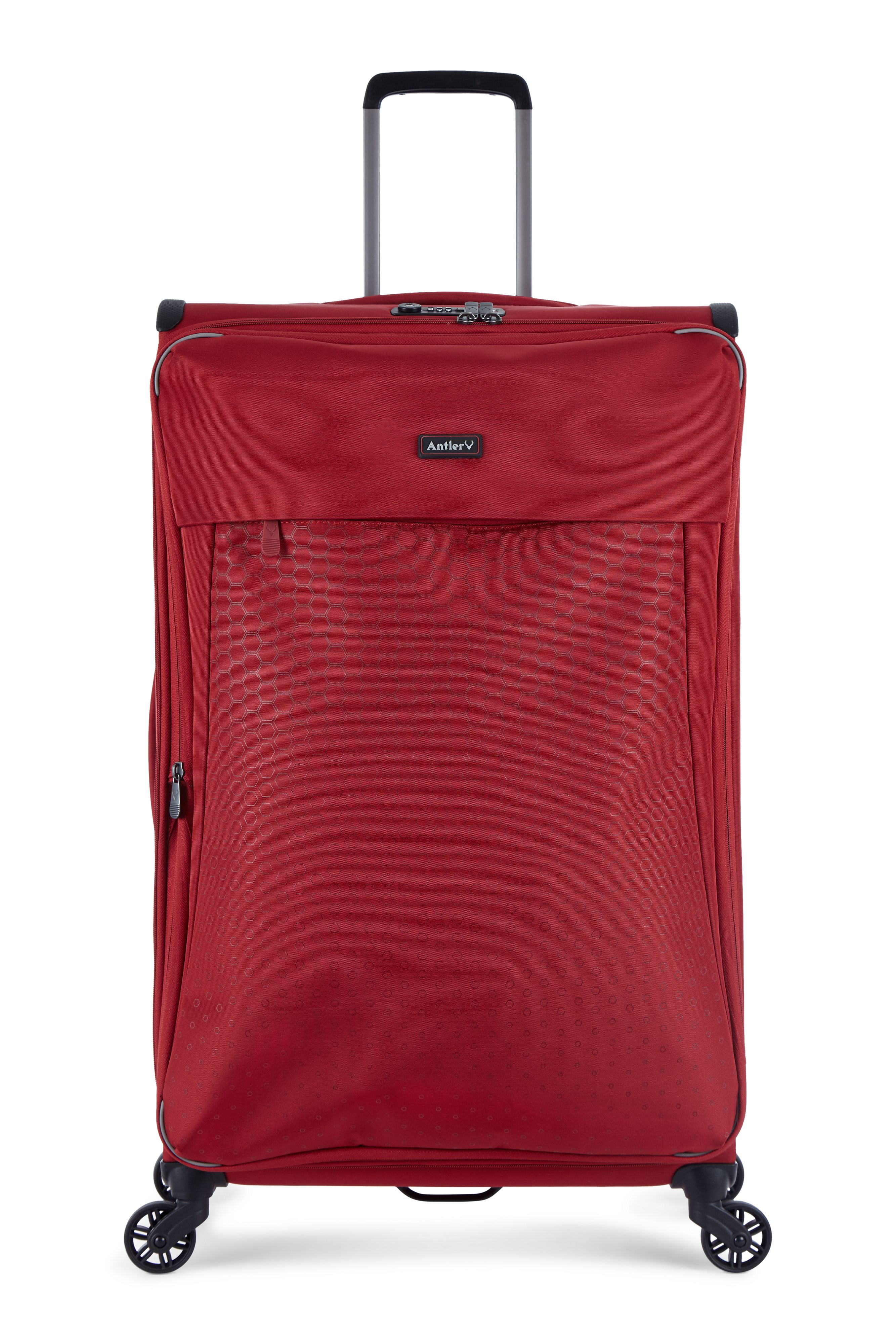 Antler OXYGEN RED 4 WHEEL SOFT LARGE 75CM SUITCASE, Red