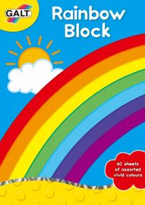 Rainbow Block Paper Sheets
