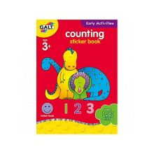 Early activities counting sticker book