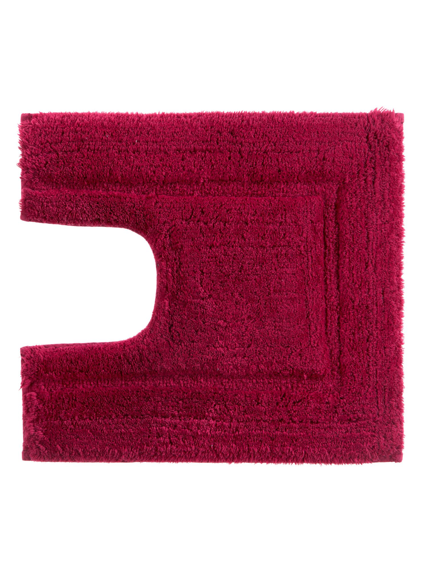 Tufted ped mat 5x55 raspberry by Christy
