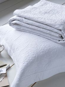 Tangiers pillowsham white