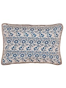 Lace cushion 30x45 Petrol blue