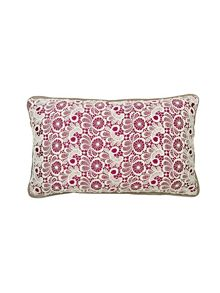 Lace cushion 30x45 plum