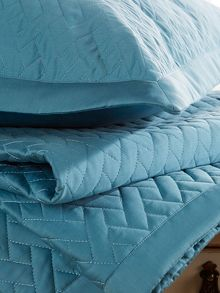 Christy Trellis pillowsham teal