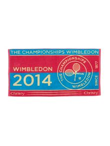 Christy presents Wimbledon pink hand towel