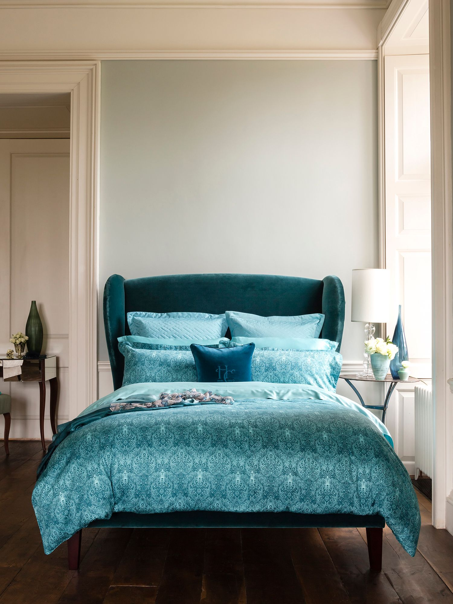 Alhambra rectangle pillowcase pair teal